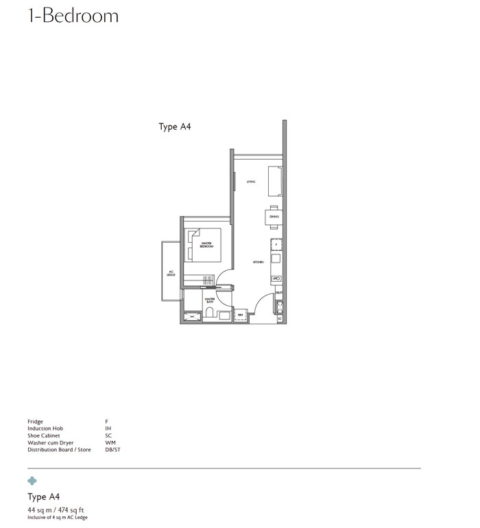 Fourth Avenue Residences -Floor plan -One Bedroom