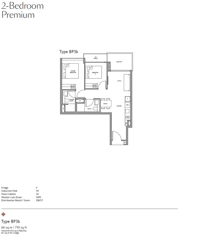 Fourth Avenue Residences -Floor plan - Two bedroom premium
