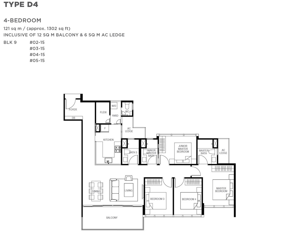 The Gazania - 4 Bedroom - Floor Plan