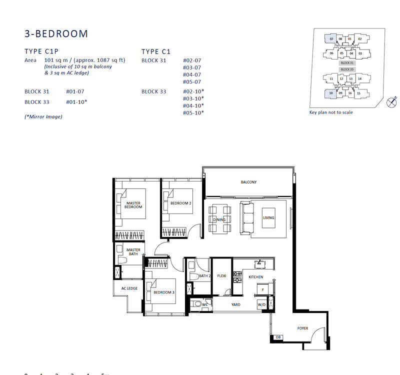 The Lilium - Floor Plan - 3 Bedroom
