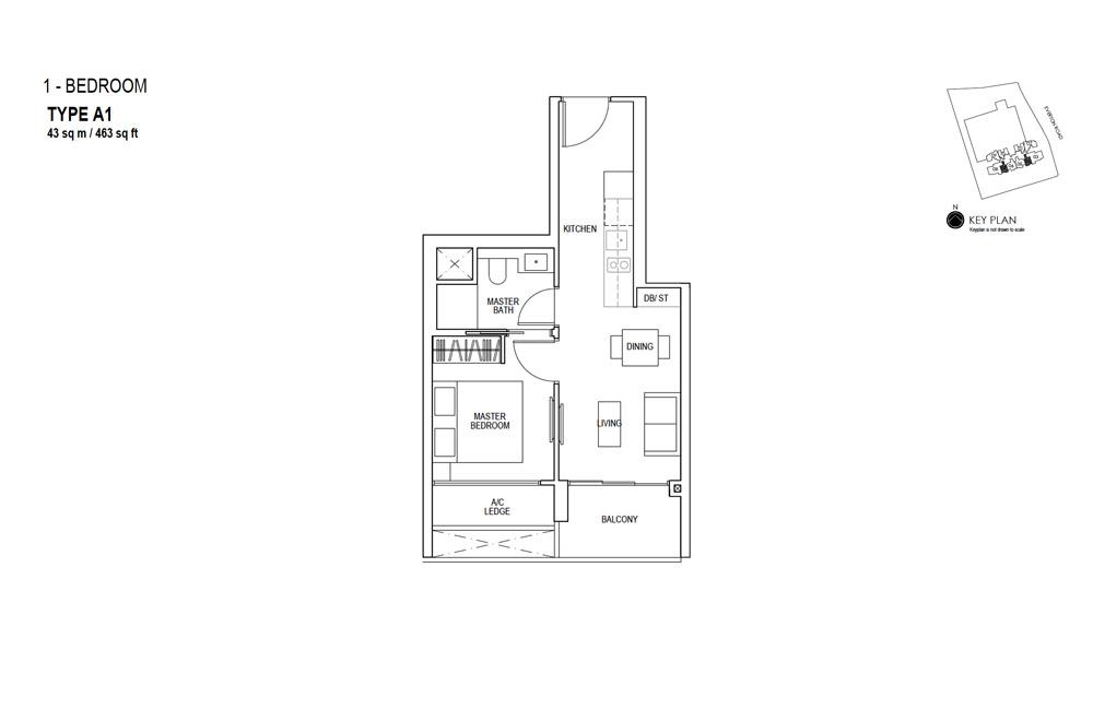 Sky Everton - Floor Plan - 1 Bedroom