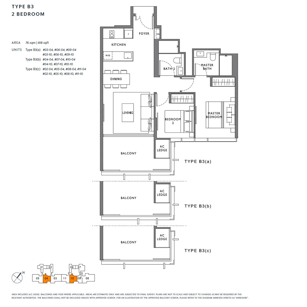 The Hyde - Floorplan - 2 Bedroom