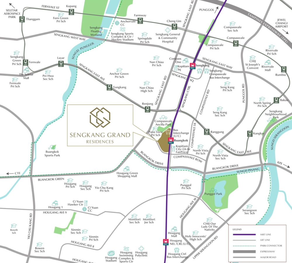 Sengkang Grand Residences - Location Map