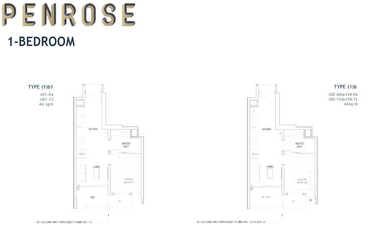 Penrose - Floorplan - 1 Bedroom