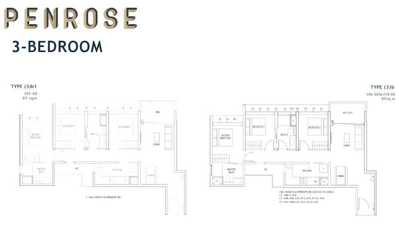 Penrose - Floorplan - 3 Bedroom