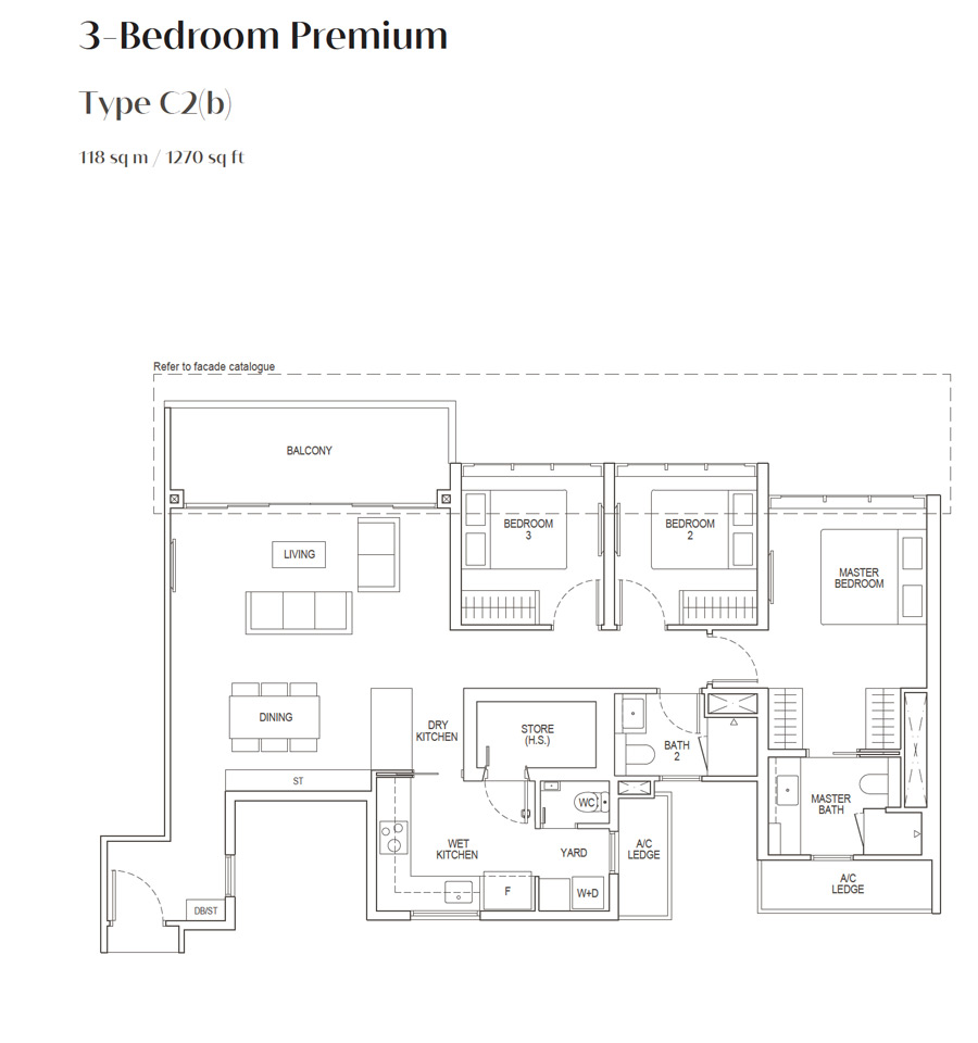 Irwell Hill Residences - Floor Plan - 3 Bedroom